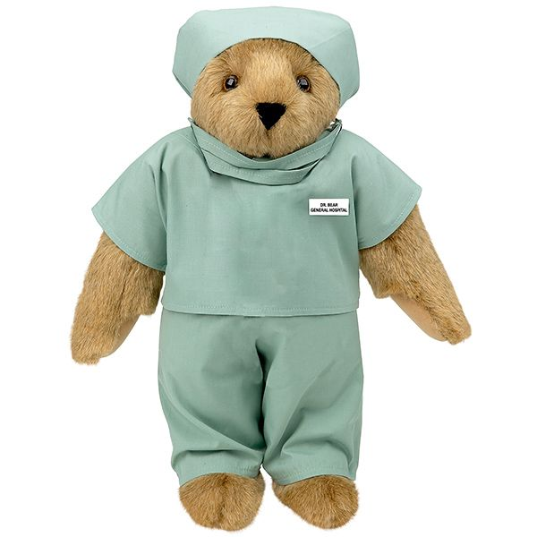 """Great gift for a soon-to-be doctor, surgeon, or nurse! 15"""" Scrubs Bear from Vermont Teddy Bear. $69.99 #Graduation"""