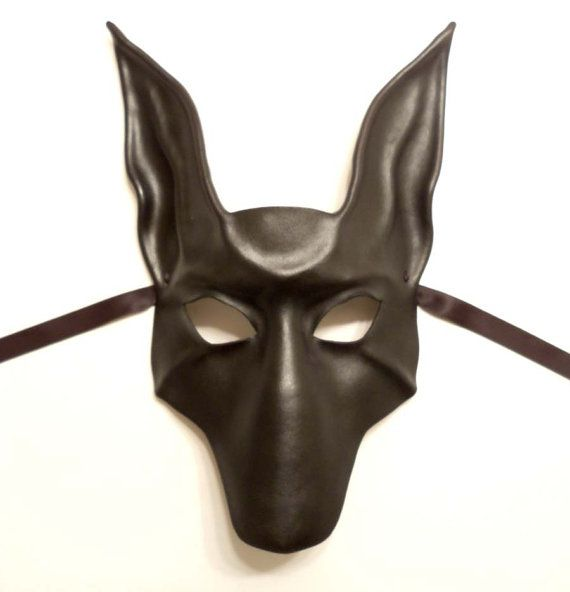 black jackal or pharaoh hound leather mask anubis dog by teonova 128