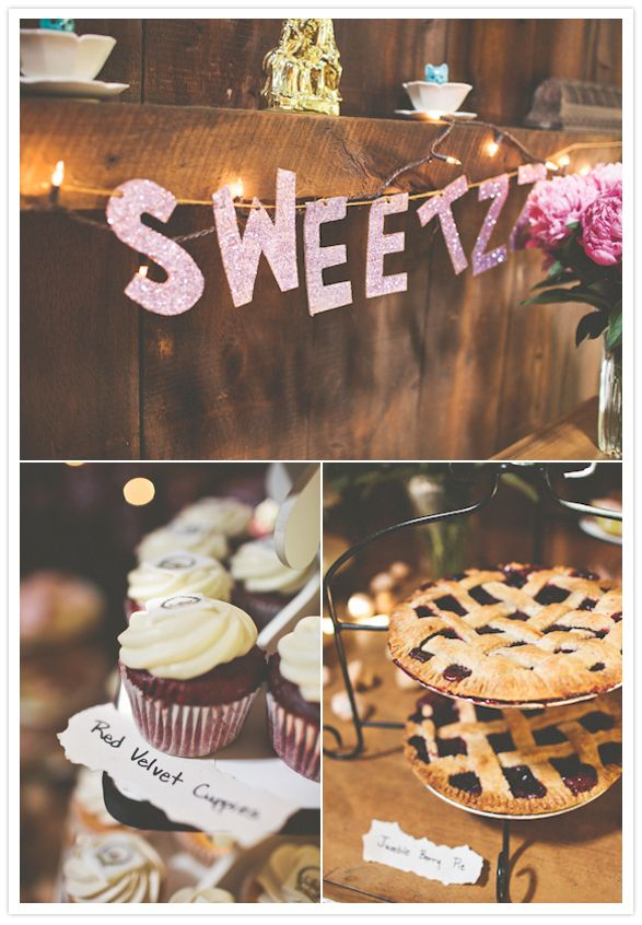 baked goods sweets table