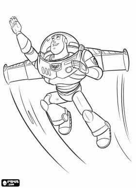 Colorear buzz lightyear buzz zurg party pinterest for Flying buzz lightyear coloring page