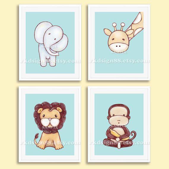 Nursery art print baby boy nursery decor kids wall art for Boys wall art
