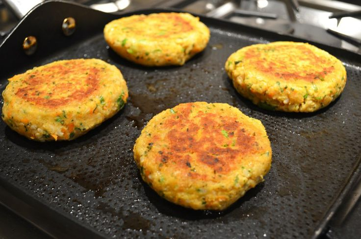 Chickpea and Brown Rice Veggie Burgers | Recipe