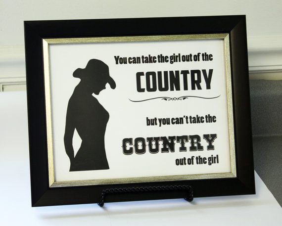 country girl silhouette 85x11 inspirational art print