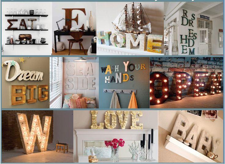 Decoracion Letras Home ~ Tutorials lletres  Home  Pinterest