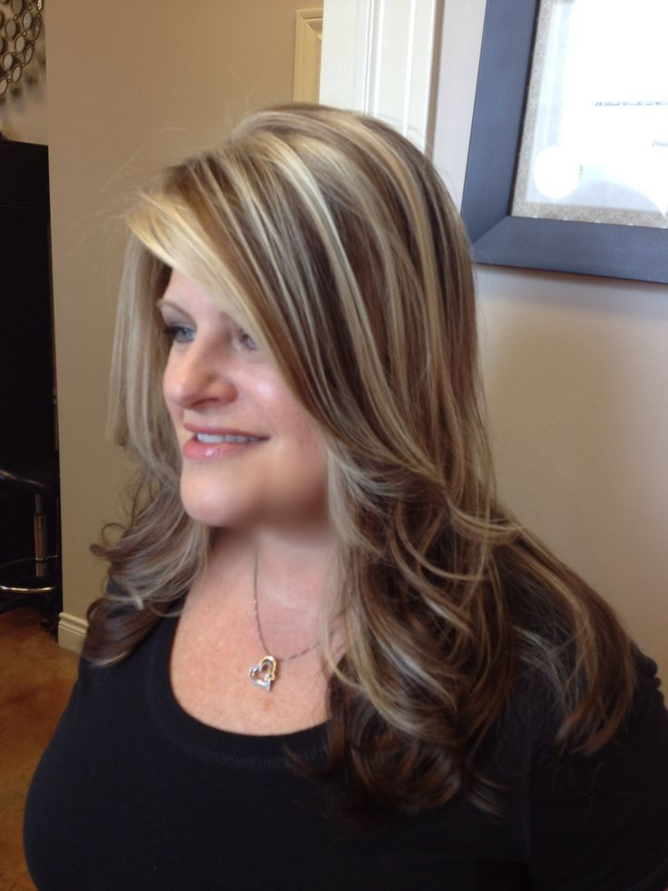 Bold highlight and lowlight with face framing layers   hair ...
