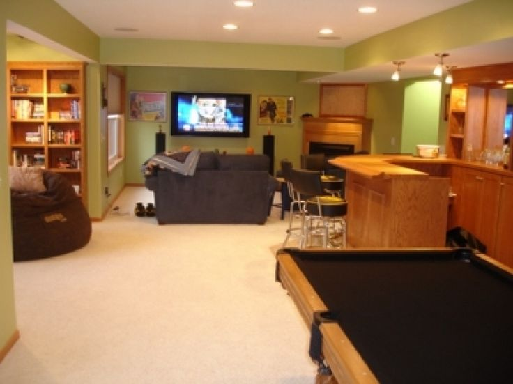 Man Cave Basement Bar : Basement man cave bar and pool table bars
