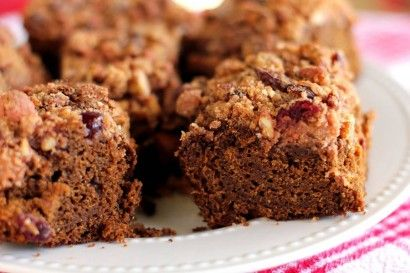 Make-Ahead Gingerbread Coffee Cake with Cranberry Pecan Streusel   Re ...