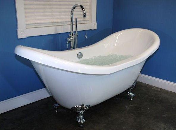 Double Ended Slipper Tub With Air Jets Dream Home