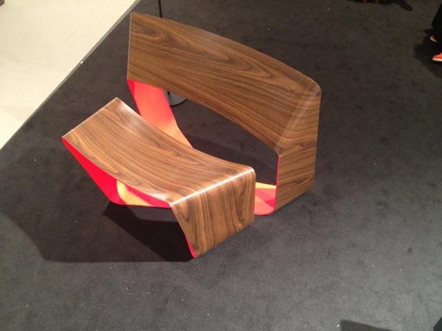 CCA student work- painted steel and wood veneer lounge