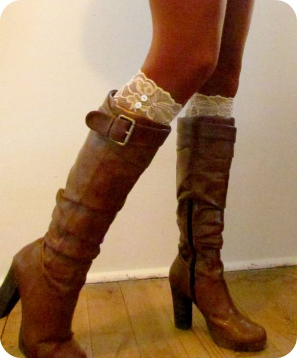 Lace Boot Toppers –easy tutorial
