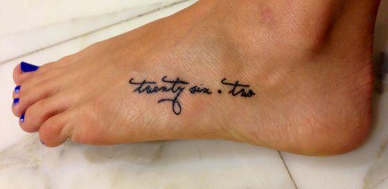 My favorite 26.2 tattoo so far...