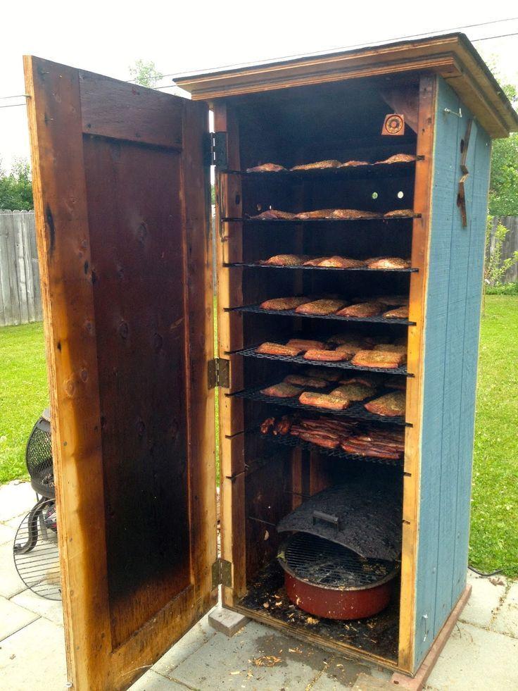 Коптильня горячего копчения из холодильника своими руками фото 74