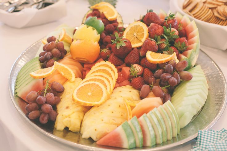 Fruit tray served at appetizer table | Food | Pinterest