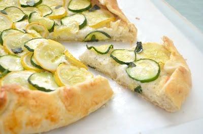 Zucchini, Squash and Ricotta Galette | Yum to the tum! | Pinterest