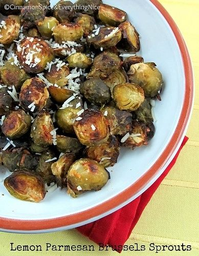 Lemon Parmesan Roasted Brussels Sprouts | Yum! | Pinterest