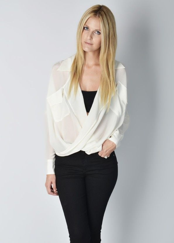Funktional Silk Fold Front Top - Womens Online Clothing Boutique