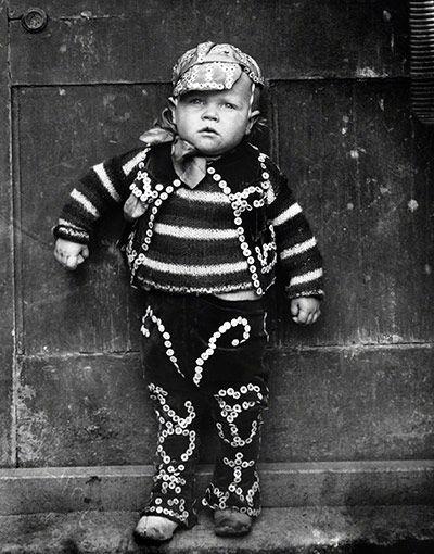 EO Hoppé //  The Pearlies, Master William Dennis Simmons //  London // 1922