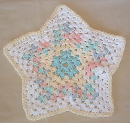Free Crochet Star Dishcloth Pattern : Star Dishcloth - Free Pattern. ^^ Feelin Crafty ...