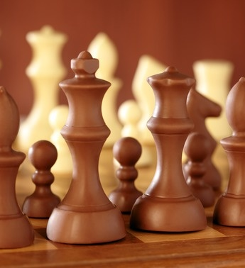Add this edible Chocolate Chess Valentine Gift For Him to a wine set ...