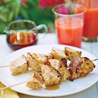 Outdoor Entertaining Tip of the Month: Grilled French Toast Kebabs ...