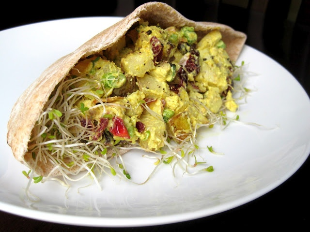 Curried Chicken Salad Pita. May be one of my new favorite lunches ...