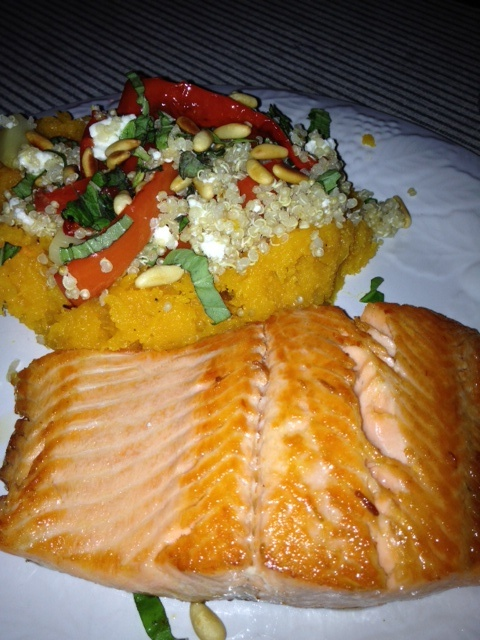 Grilled Rainbow Trout with a side of: Roasted butternut squash (60mins ...