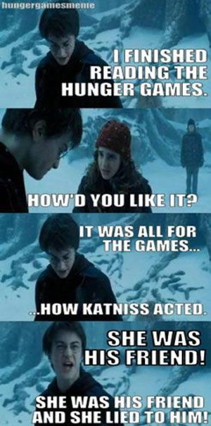 harry potter+ hunger games= perfect!