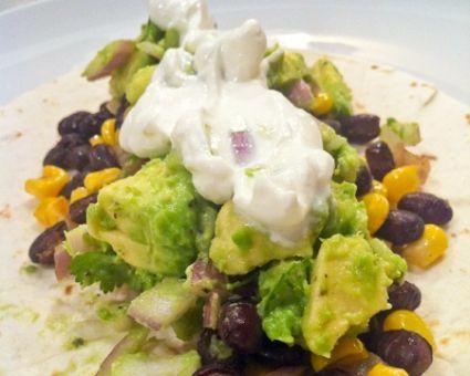 Simple Black Bean Tacos with Corn and Avocado Salsa | Recipe