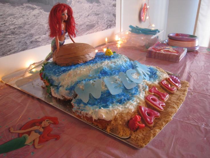 little mermaid cake for ariel 39 s baby shower brown sugar make