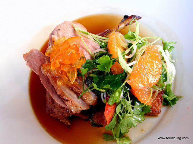 Duck L'Orange Chinois - Duck leg l'orange and seared duck breast with...