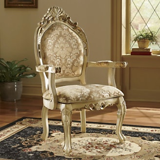 Ornate Ivory Chair from Midnight Velvet Home Decor A