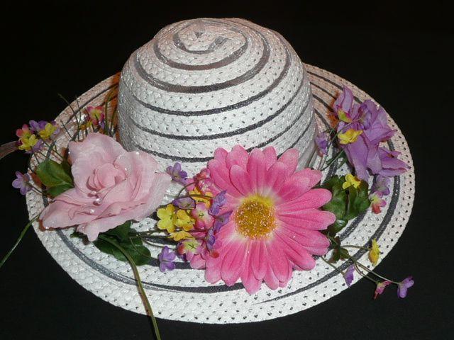 Decorate a hat tea party ideas pinterest for How to decorate a hat for a tea party