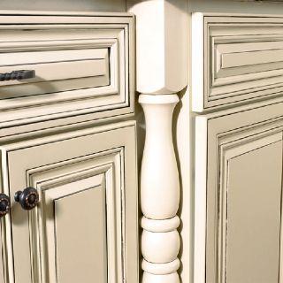 Cream cabinets with grey glaze | kitchen decor | Pinterest