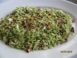 Hashed Brussels Sprouts With Lemon Zest and Candied Hazelnuts ...