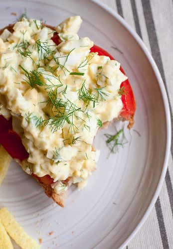 Egg Salad Toasts with Fennel and Lemon Aioli | Recipe