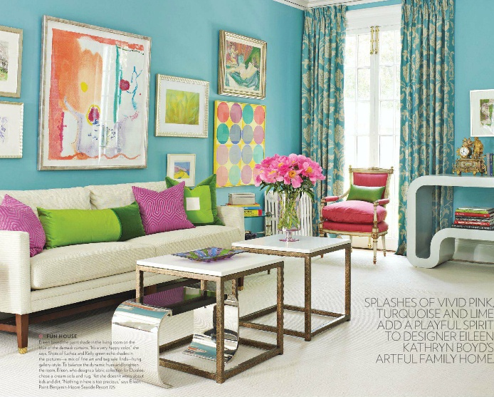 Bright colors brighter living room eye for design for Bright coloured living room ideas