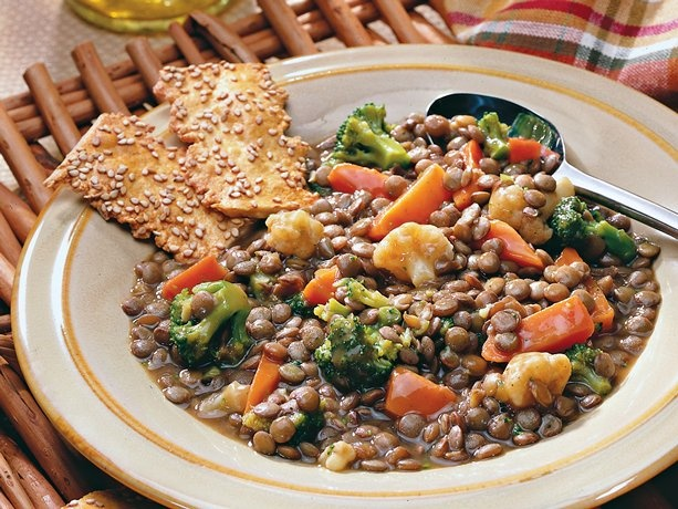 Lentil and Mixed-Vegetable Casserole - going to try this, will add ...