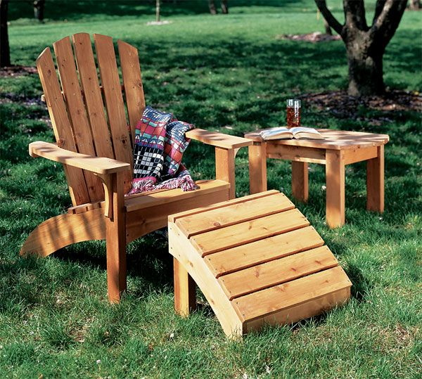 Photo Adirondack Chair And Table Plan Creativity Woodworking Pin