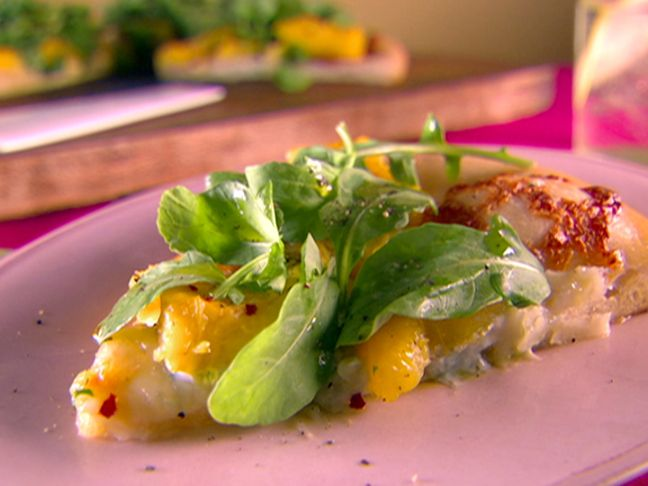 ... good! Roasted Acorn Squash and Gorgonzola Pizza from FoodNetwork.com