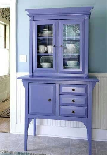 Love this hutch and cabinet!!! Bebe'!!! Lavender would be pretty in a