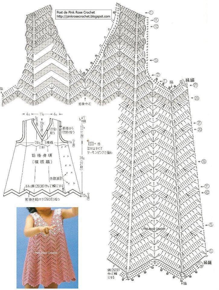 Вязание на девочек крючком со схемами
