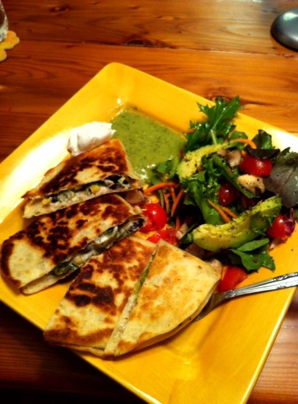 Vegan Quesadilla with Anaheim Chile, Corn & Blackbean Cream Cheese ...