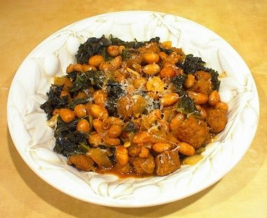 kale with sausage and white beans | yummy | Pinterest