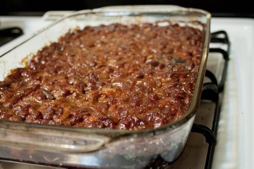 "Batter Up and Fry: Tailgating Treats. ""Baked Beans"""