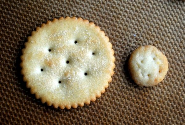 Homemade Ritz crackers - ritz side by side