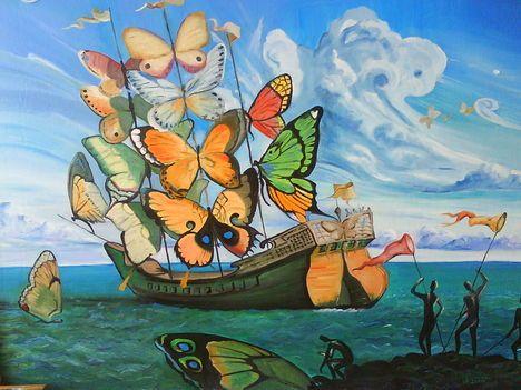 Salvador dali butterfly ship art pinterest