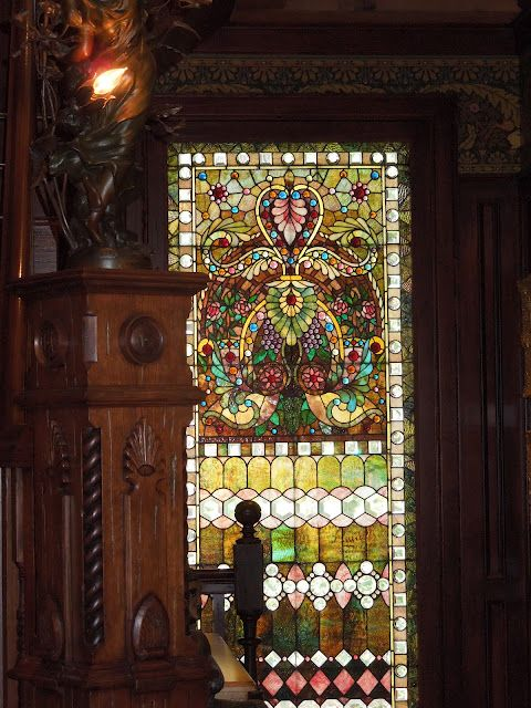 Stunning and colourful stained glass window and wooden Bb3c2cf448651436d401ffe96c9652c7