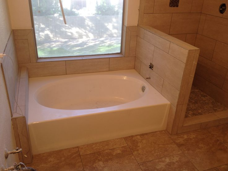 Garden tub tile surround bathroom ideas pinterest for Tub tile surround ideas