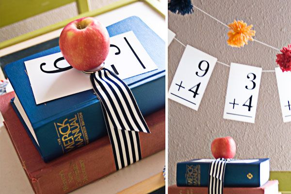 Back to school decorations party planning pinterest for Back to school decoration ideas