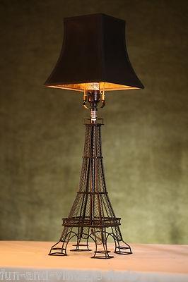 paris france eiffel tower black architectural desk table lamp french. Black Bedroom Furniture Sets. Home Design Ideas